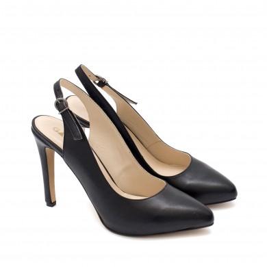 Елегантни дамски обувки от естествена кожа на висок ток-1002