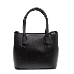 Дамска черна елегантна чанта от еко кожа-761