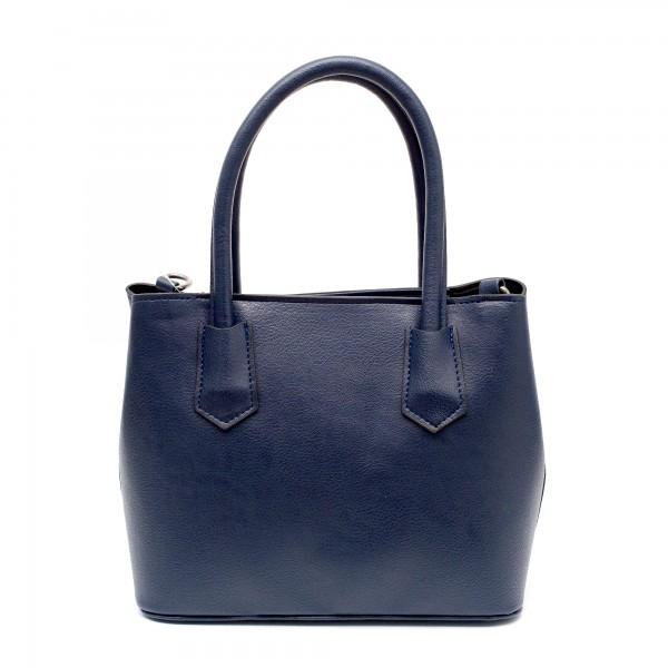 Синя дамска елегантна чанта от еко кожа-761