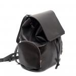 Дамска ежедневна черна раница от еко кожа-508