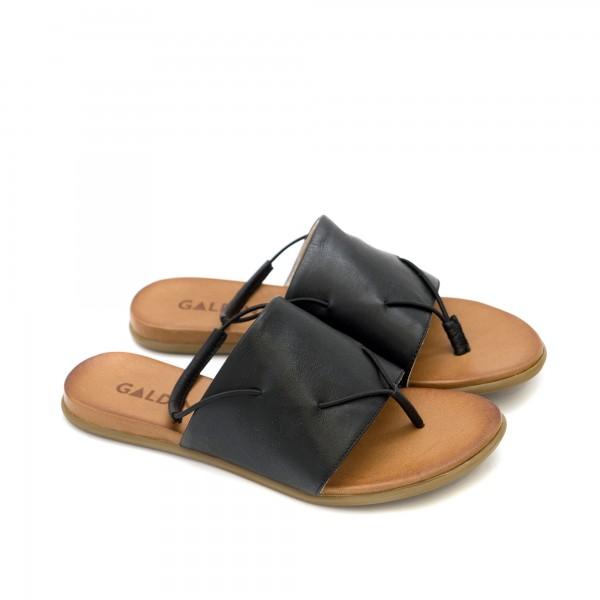 Ежедневни дамски сандали с леко и удобно равно ходило в черно-1258