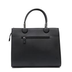 Дамска чанта от еко кожа в черен цвят-1165