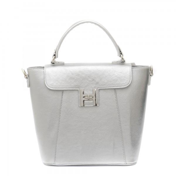Елегантна дамска чанта в сребрист цвят-871