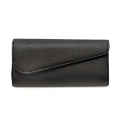 Дамска чанта тип клъч от еко кожа в черен цвят-1154