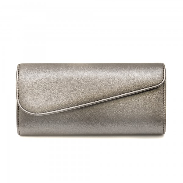 Дамска чанта тип клъч от еко кожа в цвят бакър-1154
