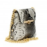 Малка дамска чанта от еко кожа със змийски принт-137