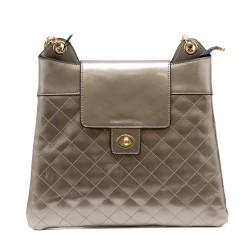 Дамска сива елегантна чанта от еко кожа-1155