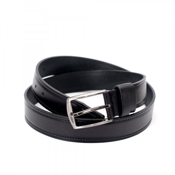 Дамски черен колан от биволска кожа-3460