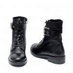 Ефектни черни дамски боти от естествена кроко кожа-949