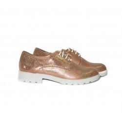 Дамски обувки от естествена кожа с връзки - 287