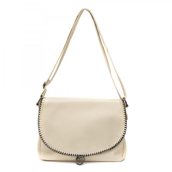Дамска ежедневна чанта в бежов цвят от еко кожа-460