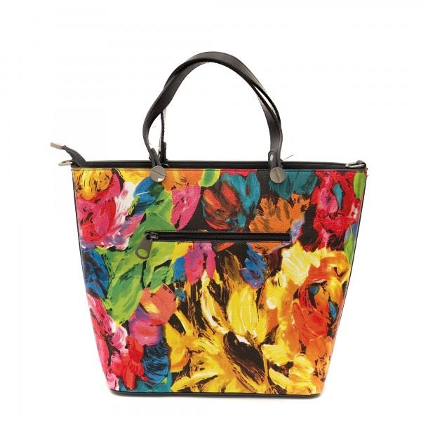 Дамска чанта от еко кожа в свежи цветове-1279