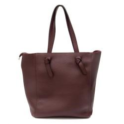 Дамска чанта от еко кожа в цвят бордо-991