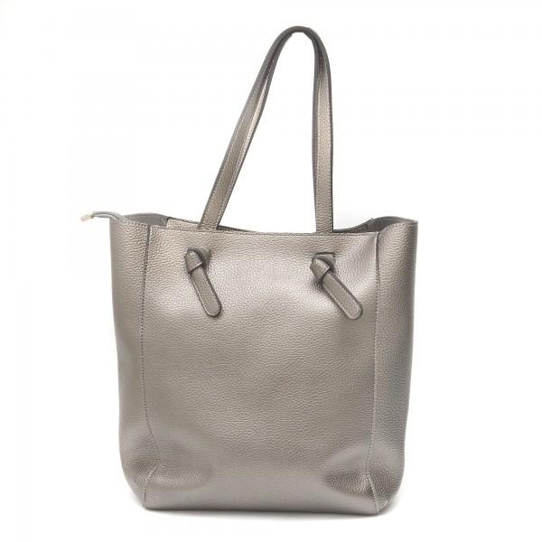 Дамска чанта от еко кожа в сив цвят-989