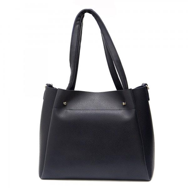 Дамска чанта от еко кожа е син цвят-268-3