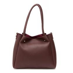 Дамска ежедневна чанта в бордо с изчистен дизайн-268-1