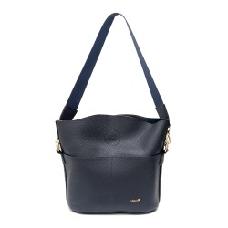 Дамска ежедневна синя чанта от еко кожа-963