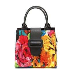 Стилна дамска чанта от еко кожа в свежи цветове-1284