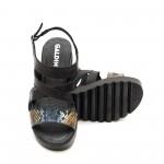 Дамски сандали в черно с ъзмийски мотив-816