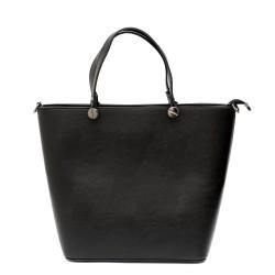 Дамска ежедневна чанта от еко кожа в черно-1293