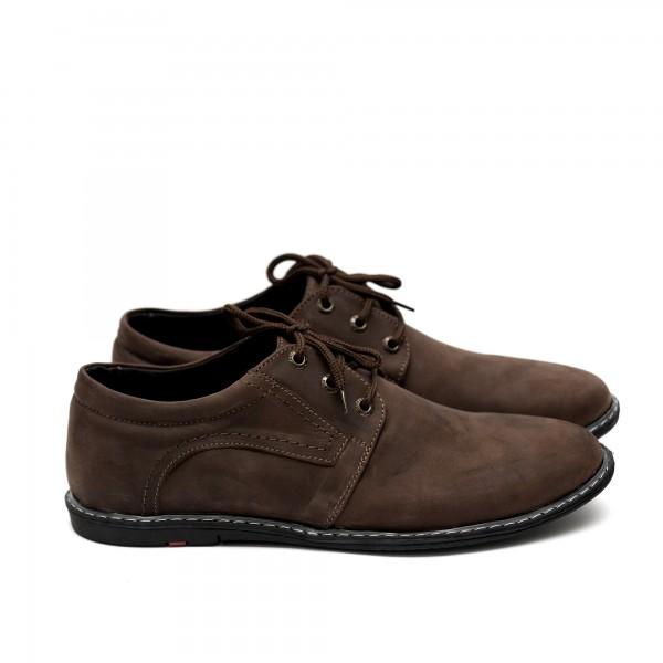 Мъжки  обувки от естествена кожа кафяви-406