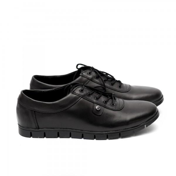Мъжки  обувки от естествена кожа черни - 408