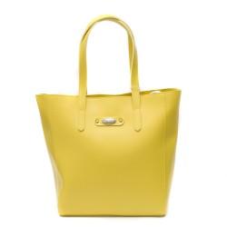 Дамска модерна чанта в жълт цвят от еко кожа-1006