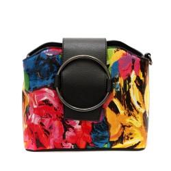 Шарена ежедневна дамска малка чанта от еко кожа-1315