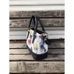 Модерна дамска чанта от еко кожа с пеперуди-180-6