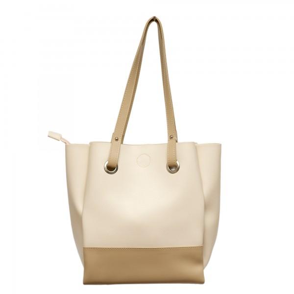 Дамска ежедневна чанта бежова-349