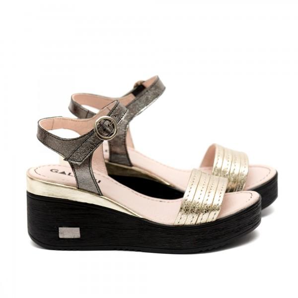 Дамски сандали от естествена кожа на платформа-479