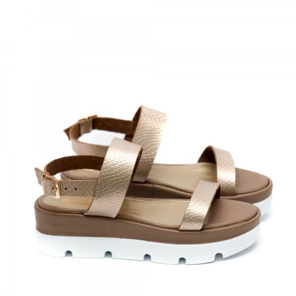 Дамски сандали от естествена кожа визон-481