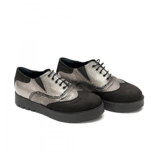 Дамски  спортно елегантни обувки от естествена кожа-524