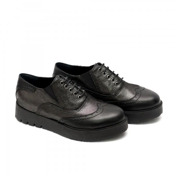 Дамски  спортно елегантни обувки от естествена кожа-523
