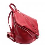Дамска раница червена от еко кожа-151