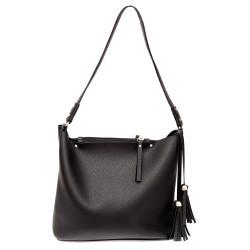 Черна дамска ежедневна чанта от еко кожа-725