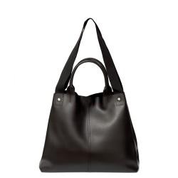 Черна дамска ежедневна чанта от еко кожа-726