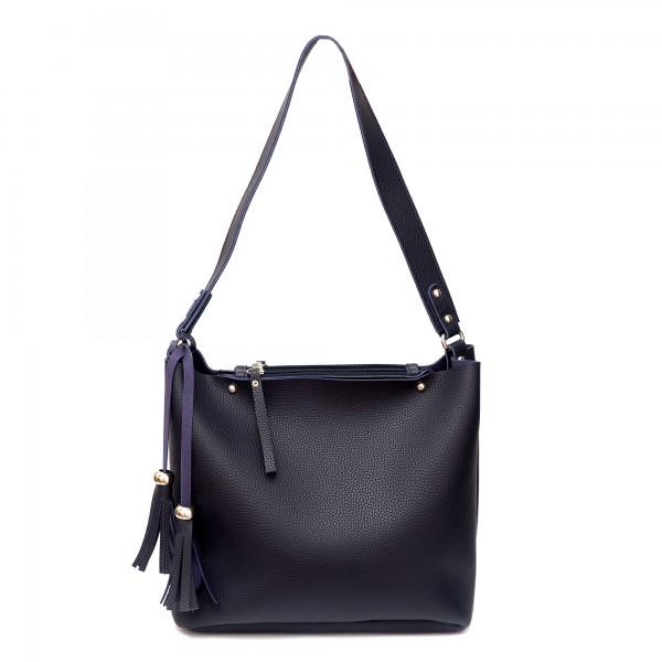 Синя дамска ежедневна чанта от еко кожа-725