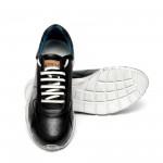 Мъжки спортни обувки от естествена кожа черни-425