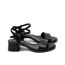 Дамски сандали от естествена кожа черни-435