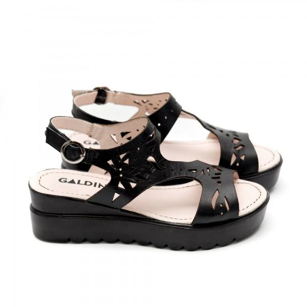 Дамски сандали от естествена кожа черни-454