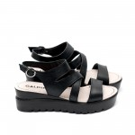 Дамски сандали от естествена кожа черни-456