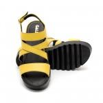 Дамски сандали от естествена кожа жълти-455