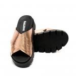 Дамски летни чехли от естествена кожа бакър-467