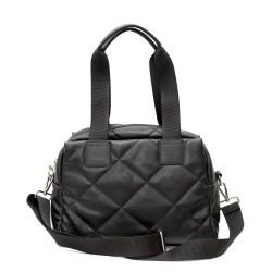 Атрактивна дамска чанта в черен цвят с дълга спортна дръжка-2-1514