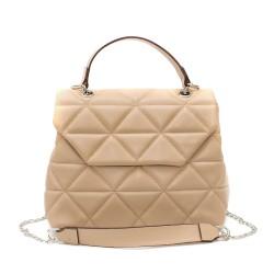 Бежова дамска чанта от еко кожа с модерна визия-2-1510