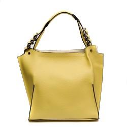 Жълта дамска ежедневна чанта от еко кожа-812