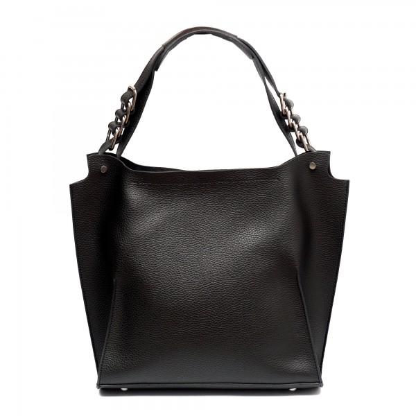 Черна дамска чанта от еко кожа-812
