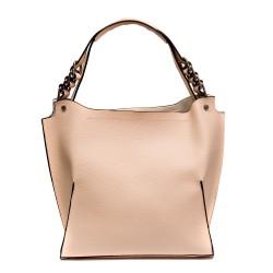 Дамска чанта от еко кожа в цвят пудра-812