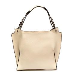 Ежедневна дамска чанта от еко кожа в светло бежово-812